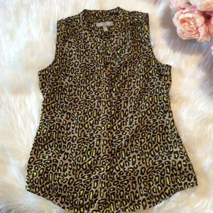 Banana Republic Leopard Blouse